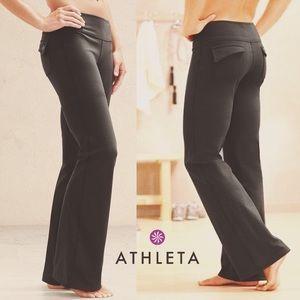 ✨ Athleta Fusion Yoga Pants Black Flare w/ Pockets